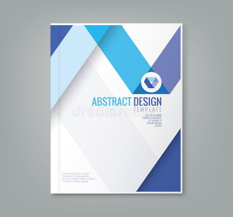 Abstrakte Linie Designhintergrundschablone für Geschäftsjahresbericht vektor abbildung