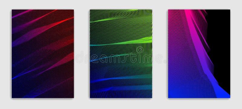 Abstrakte Linie minimale zeitgenössische Broschüre des Kunstvektors entwirft s lizenzfreie abbildung