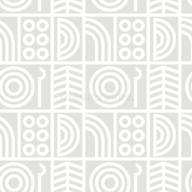 Download Abstrakte Linie Nahtloses Muster Der Kunst Vektor Abbildung - Illustration von kunst, hintergrund: 106801893