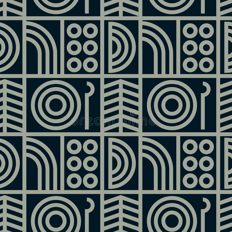 Download Abstrakte Linie Nahtloses Muster Der Kunst Vektor Abbildung - Illustration von grau, annehmbar: 106801976