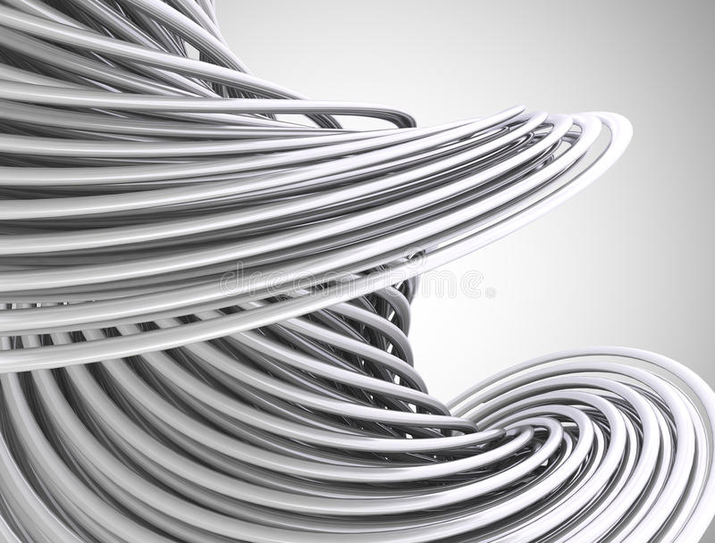 Abstrakte Linien 3d vektor abbildung