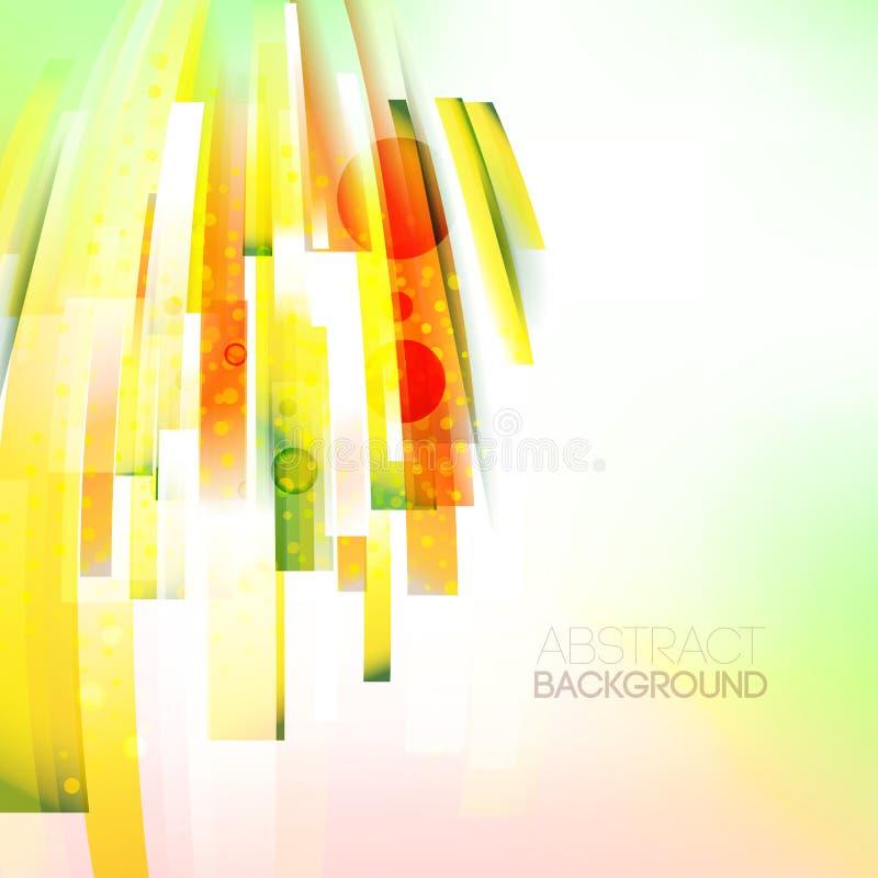 Abstrakte linke orientierte Farbwelle, lebende Zeilendarstellung stock abbildung