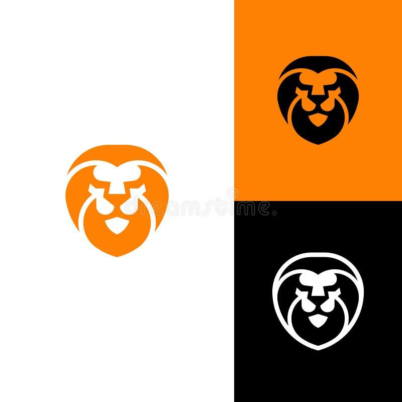 Abstrakte Lion Head Concept-Illustrationsvektor Entwurfsschablone lizenzfreie abbildung