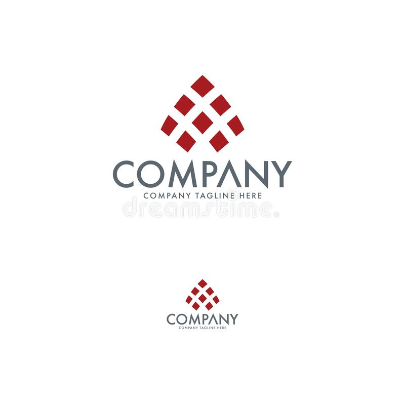 Abstrakte Logodesignschablone Firmenlogoelement stock abbildung