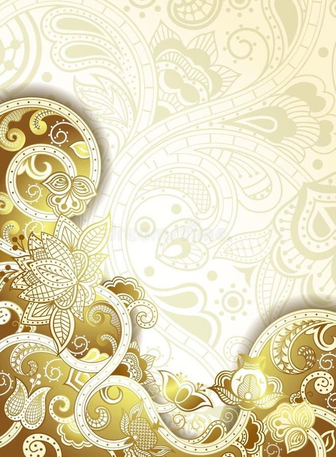 Abstrakte Lotus Floral Background vektor abbildung