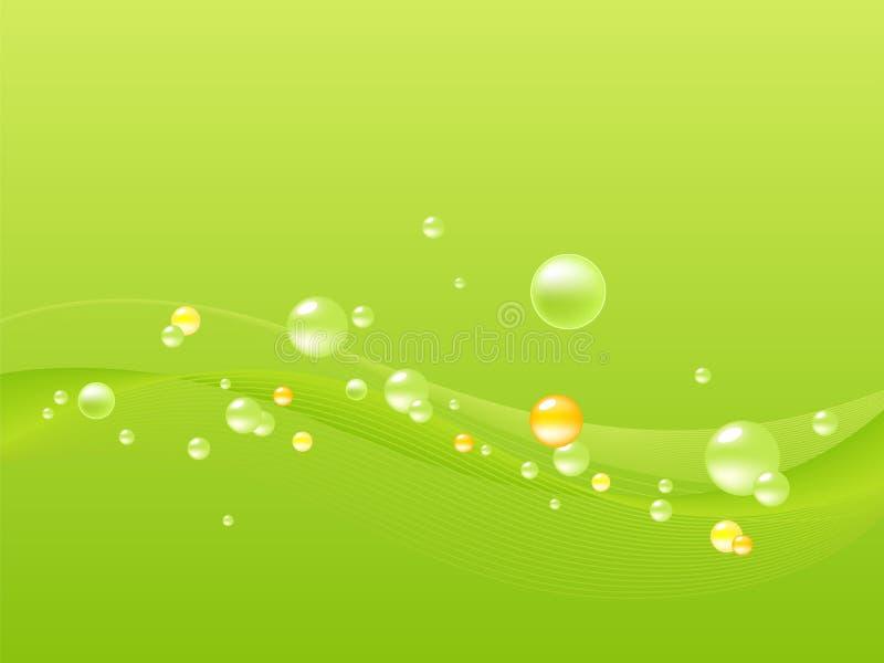 Abstrakte Luftblasen und Welle vektor abbildung