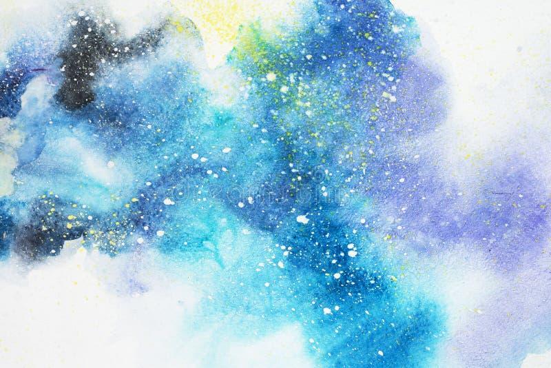 Abstrakte Malerei des Aquarells Wasserfarbzeichnung Bunte Flecken masern Hintergrund vektor abbildung