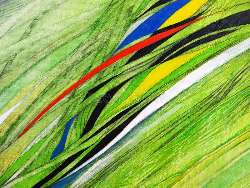 Abstrakte Malerei handgemacht Surrealismus und Mystizismus Abstrakter Hintergrund-Anstrich lizenzfreie abbildung