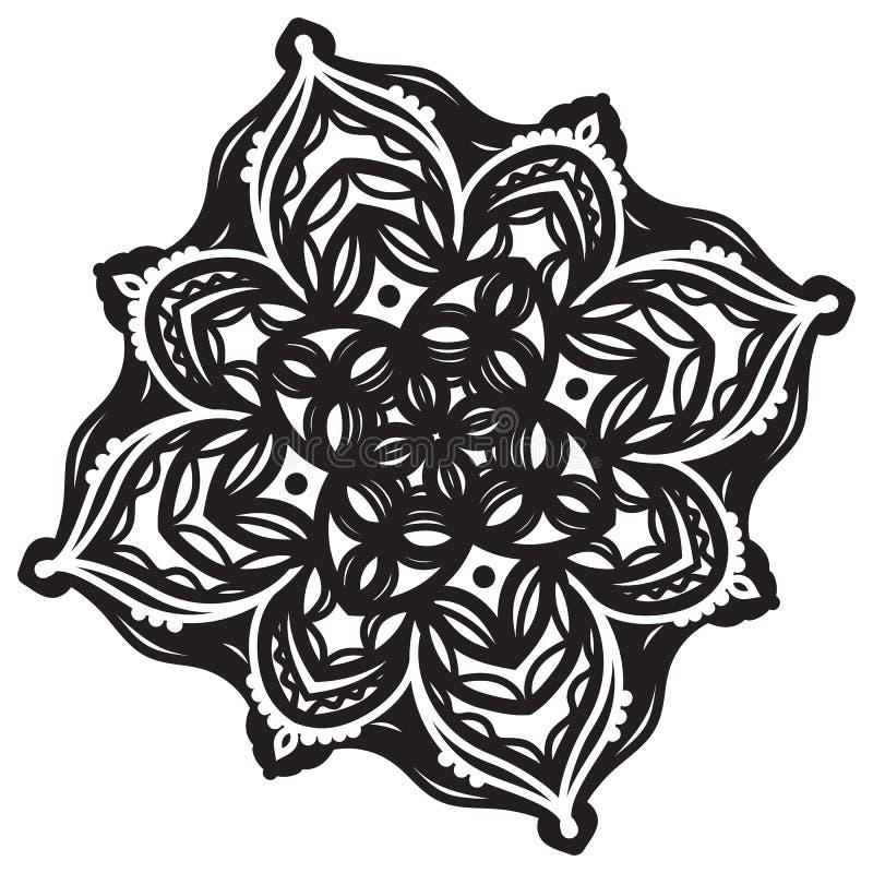 Abstrakte Mandala Design lizenzfreie abbildung