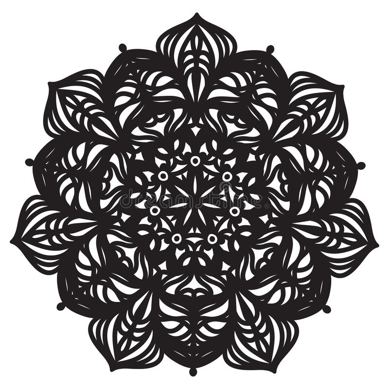 Abstrakte Mandala Design stock abbildung
