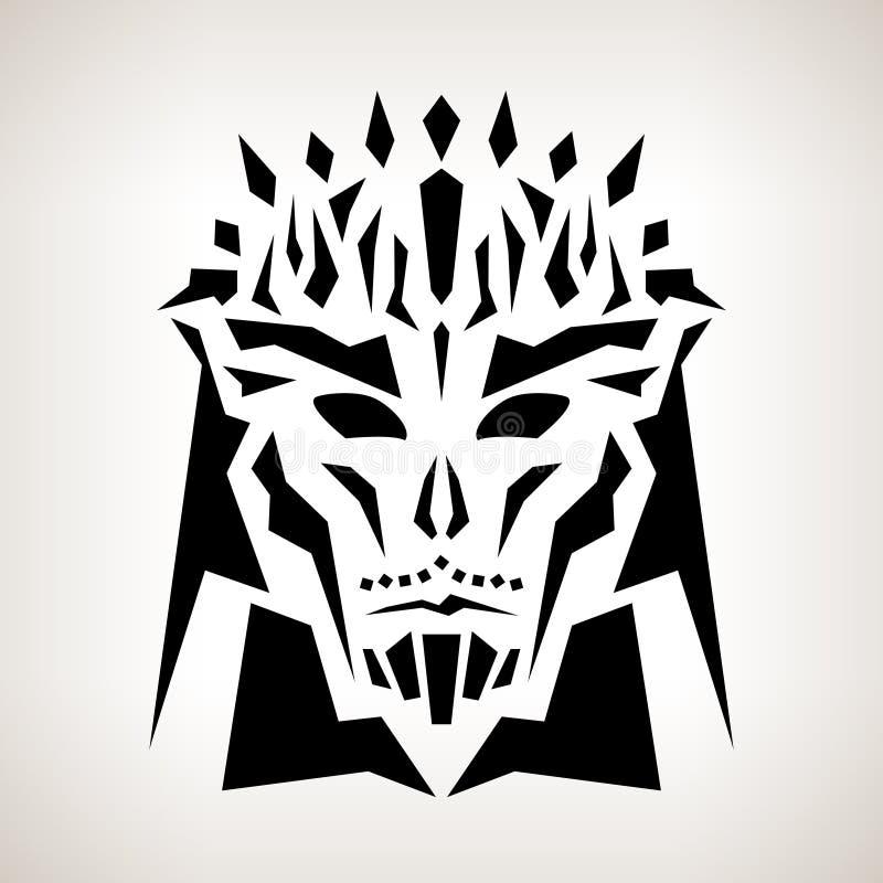 Abstrakte Maske, Stammes- Art lizenzfreie abbildung