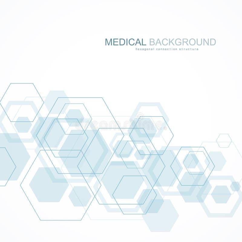 Abstrakte medizinischer Hintergrund DNA-Forschung, Molekül, Genetik, Genom, DNA-Kette Genetisches Analysekunstkonzept mit lizenzfreie abbildung