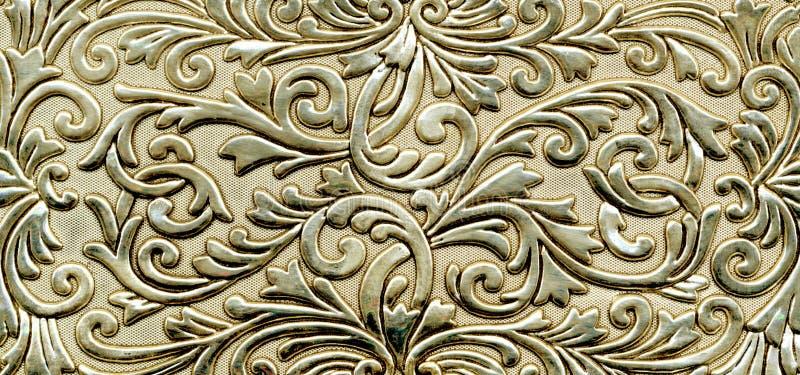 Abstrakte metallische goldene Beschaffenheit stock abbildung