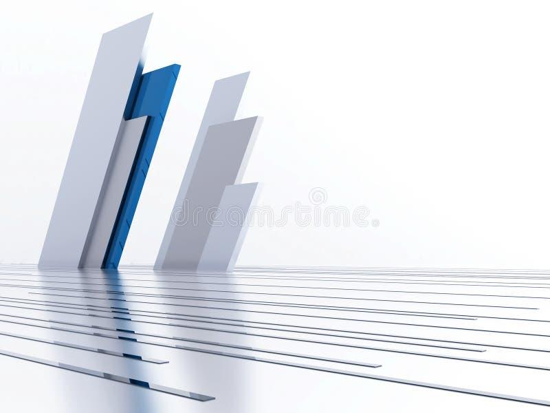 Abstrakte metallische Zeilen lizenzfreie abbildung