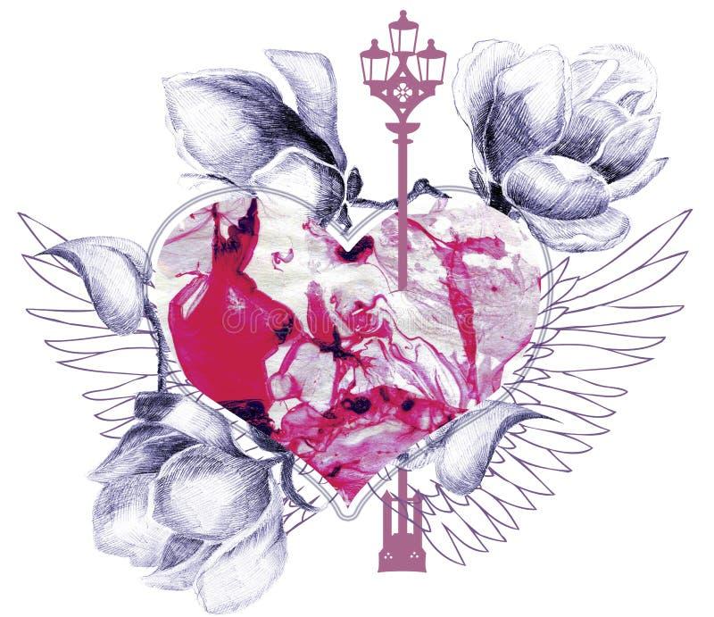 Abstrakte Mischung mit Herzen vektor abbildung