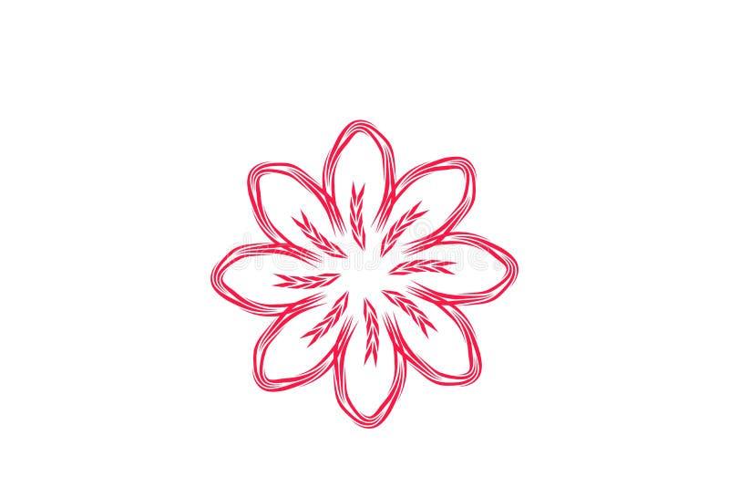 Abstrakte Monolinie Blume Logo Designs Inspiration Isolated auf weißem Hintergrund lizenzfreie abbildung