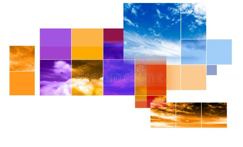 Abstrakte Montagesauslegung lizenzfreie abbildung