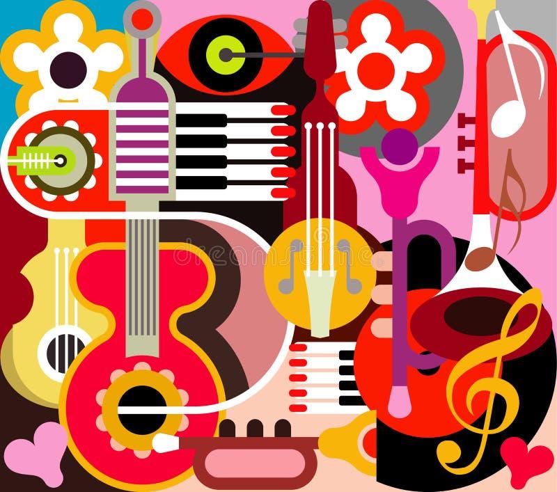 Abstrakte Musik lizenzfreie abbildung