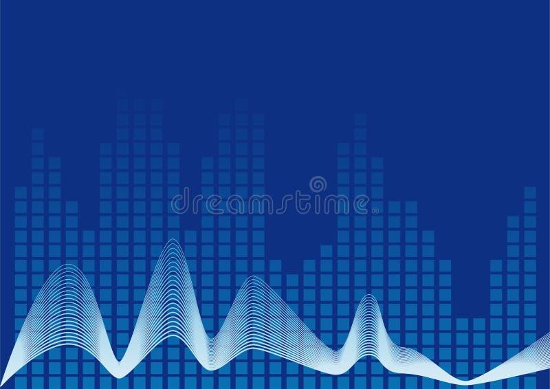 Abstrakte Musik stock abbildung