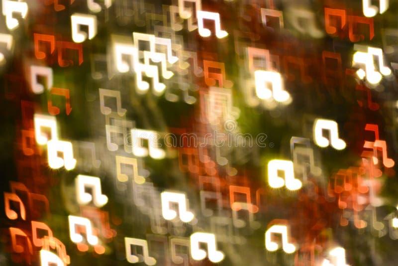 Abstrakte Musik merkt Form bokeh für Hintergrund lizenzfreie stockfotografie