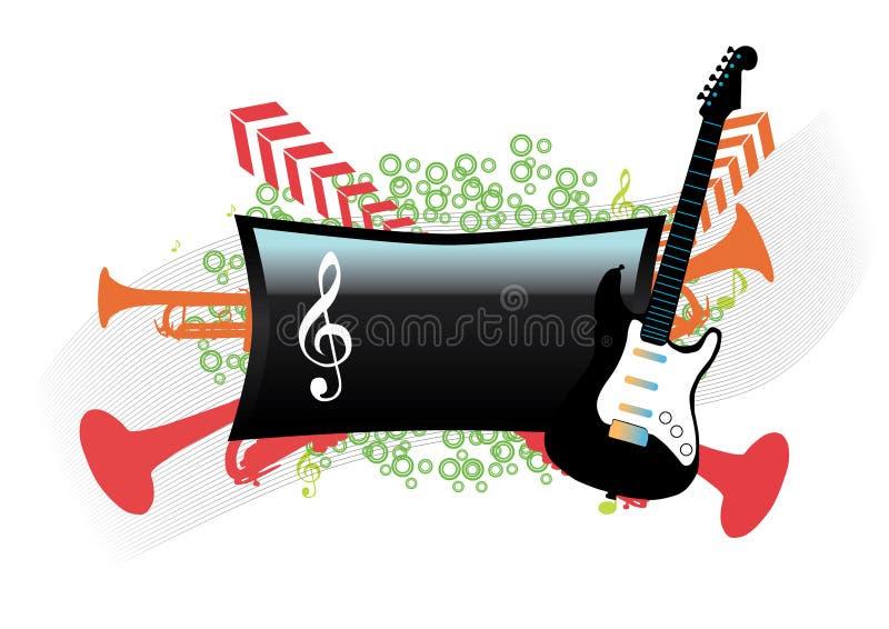Abstrakte Musikauslegung lizenzfreie abbildung