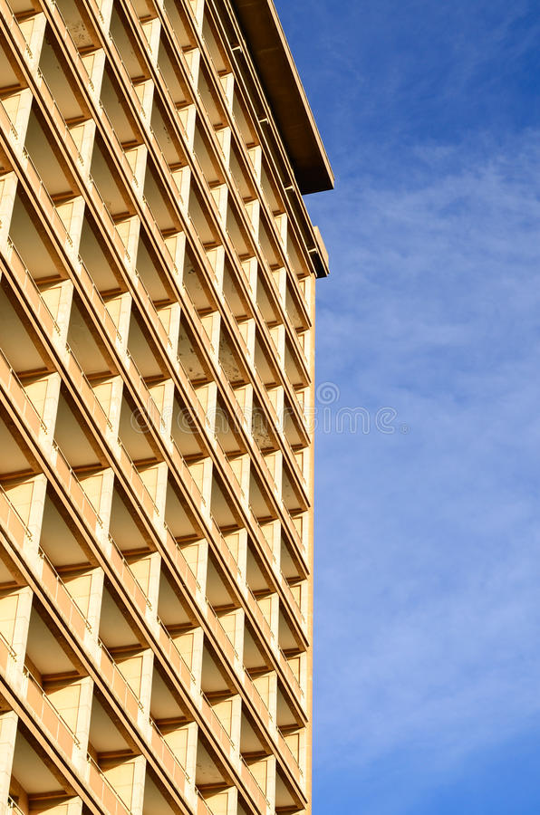 Abstrakte Muster des modernen Hotel-Gebäudes stockfotografie