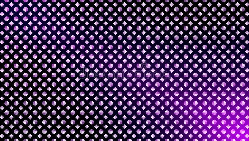 Abstrakte nahtlose Diamanten und Kreise in purpurrotem Hintergrund Gradated lizenzfreie stockfotografie