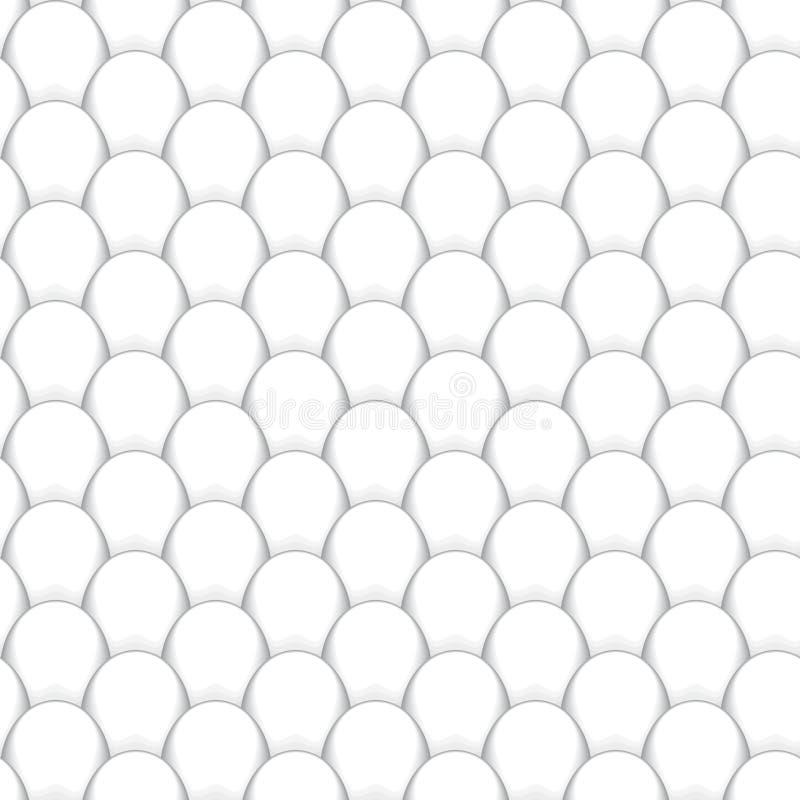 Abstrakte nahtlose Hintergrundform von Grayscalefischschuppen stock abbildung