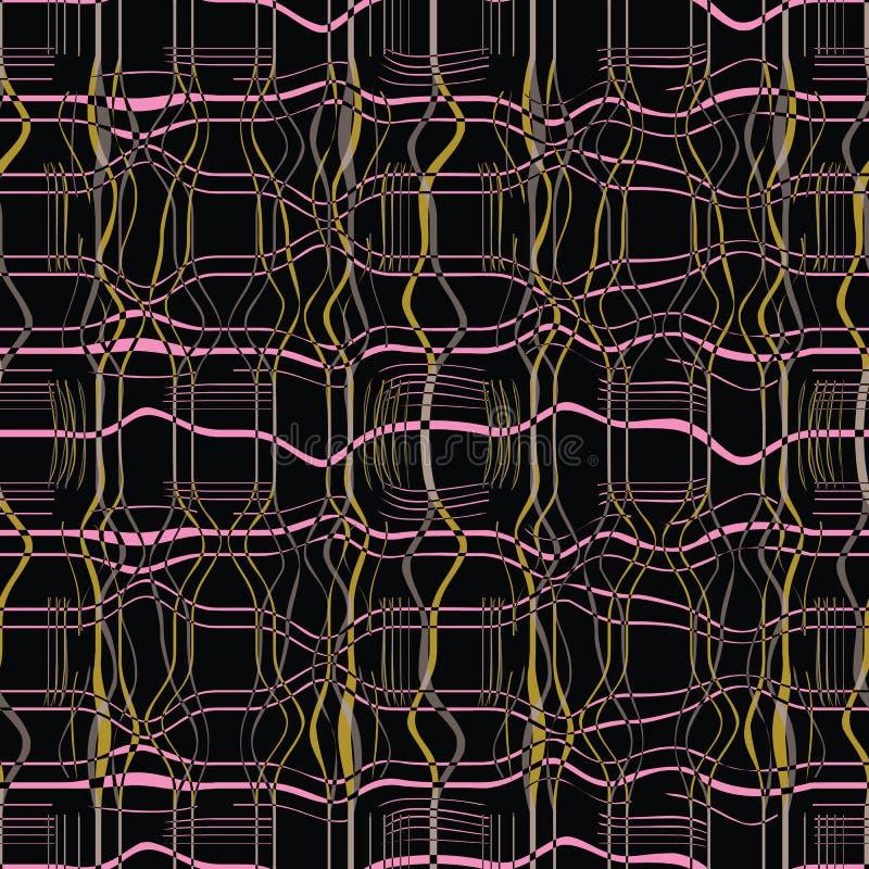 Abstrakte nahtlose Musterillustration der gemarmorten Plaidbeschaffenheit stockbild