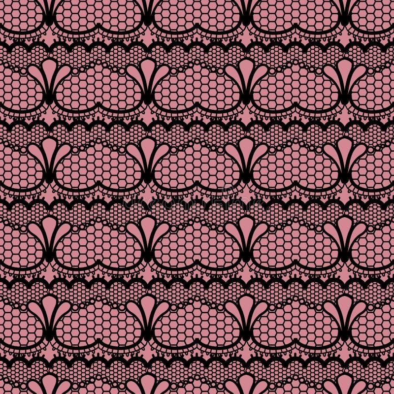 Abstrakte nahtlose Musterillustration von Spitzen- Bl?ttern, mit Blumen und von Herzen im geometrischen Plan lizenzfreie abbildung