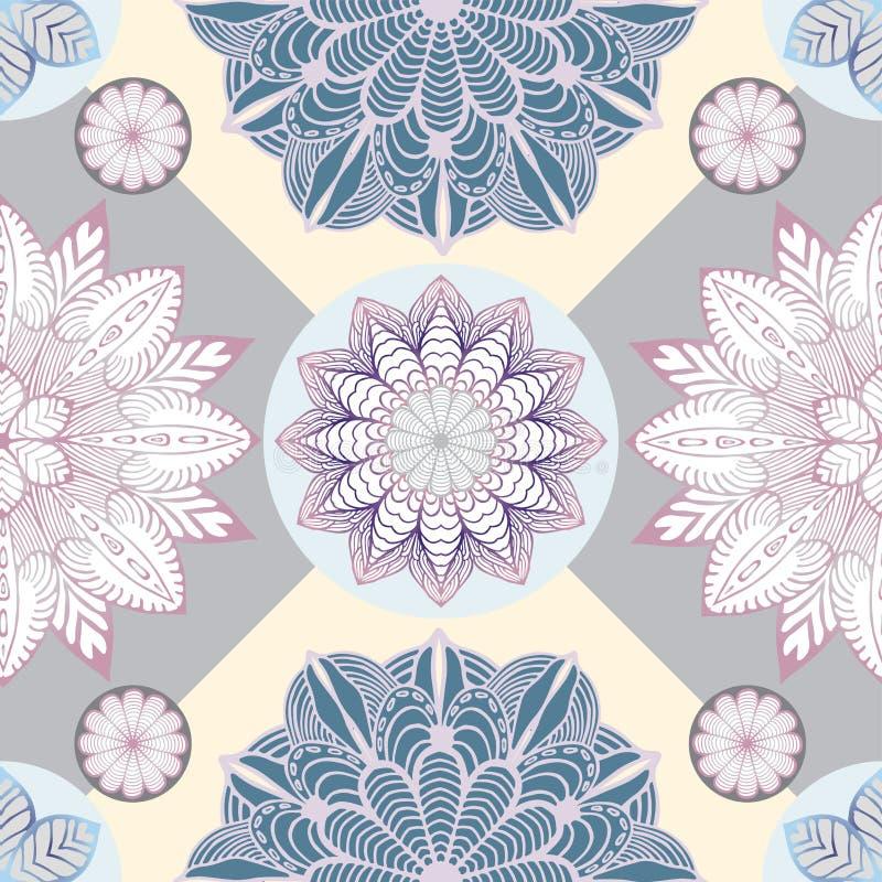 Abstrakte nahtlose Patchworkfliese mit Blumenverzierung Arabisch oder lizenzfreies stockfoto