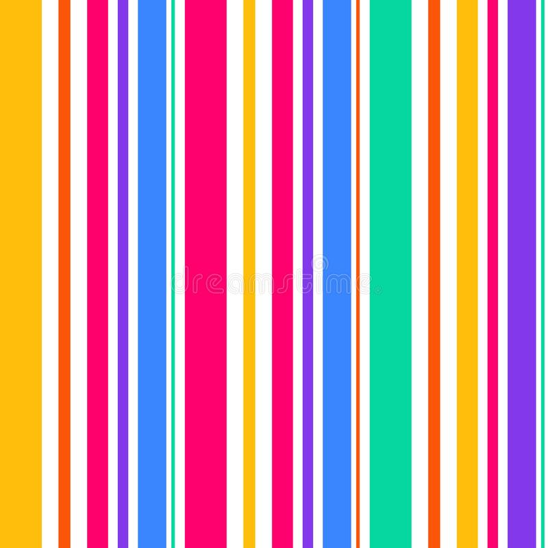 Abstrakte nahtlose Regenbogenfarbstreifen Zeile Hintergrund lizenzfreie abbildung