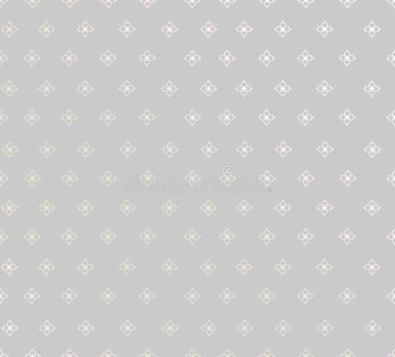 Abstrakte nahtlose Vektor-mit Blumenbeschaffenheit. stock abbildung