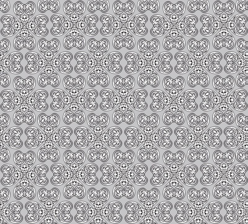 Abstrakte nahtlose Vektor-mit Blumenbeschaffenheit. lizenzfreie abbildung