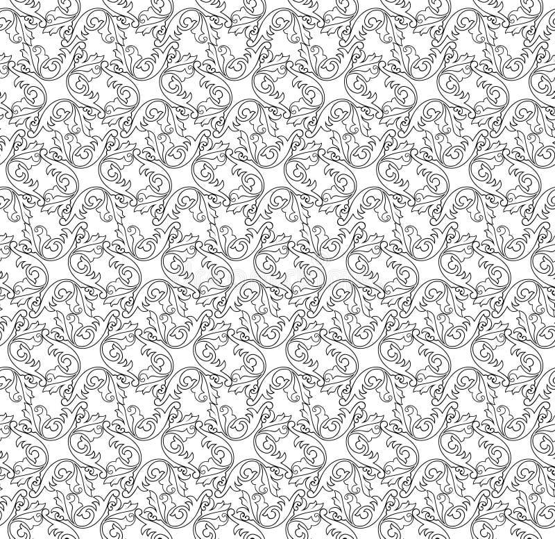 Abstrakte nahtlose Vektor-mit Blumenbeschaffenheit. vektor abbildung