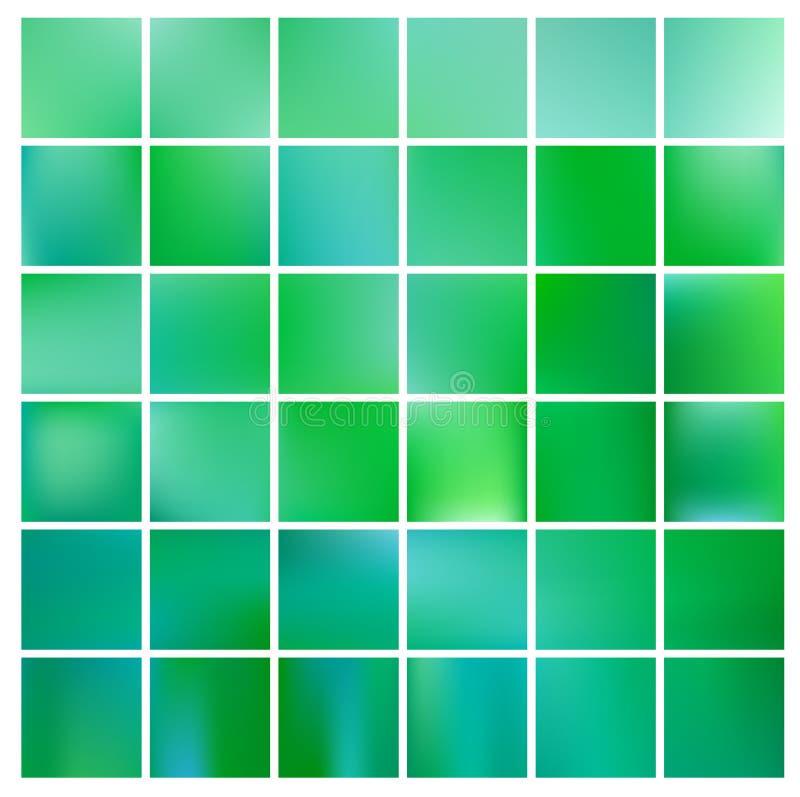Abstrakte Natur unscharfer Hintergrund Grüner Steigungshintergrund mit Sonnenlicht Ökologiekonzept für Ihr Grafikdesign lizenzfreie abbildung