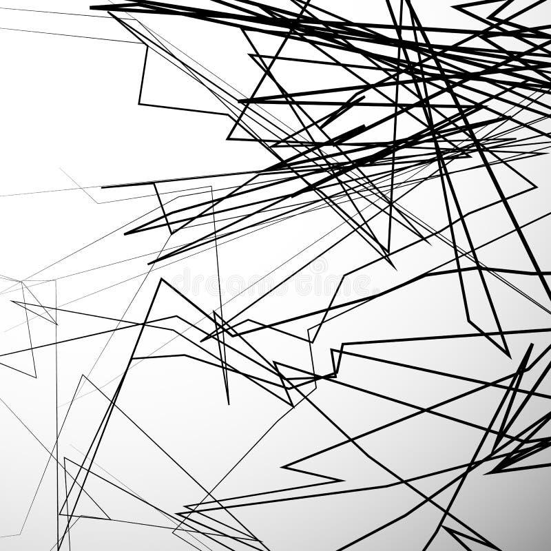Abstrakte nervöse Linien künstlerischer Grayscalehintergrund vektor abbildung