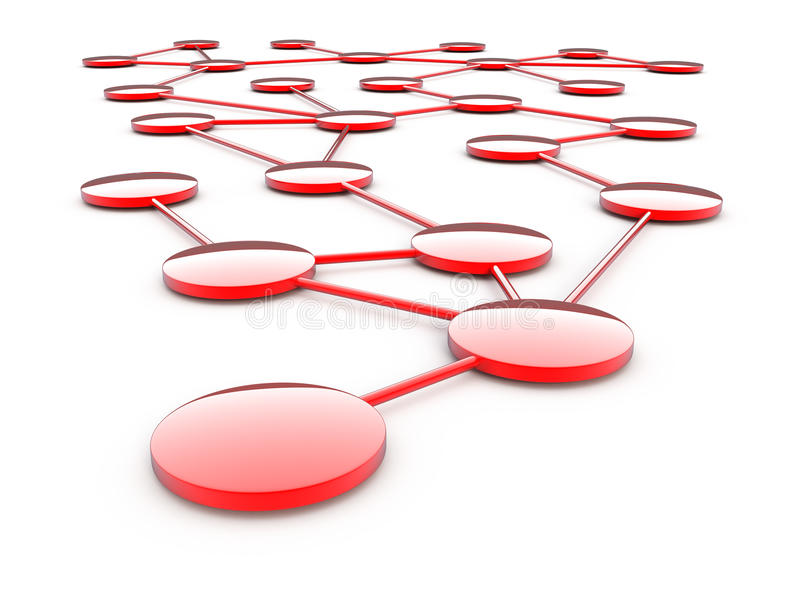 Abstrakte Netzkommunikation lizenzfreie abbildung