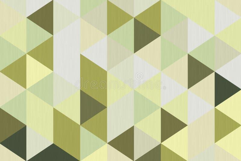 Abstrakte Olive Green Polygon Geometric Background Wiedergabe 3d lizenzfreie abbildung