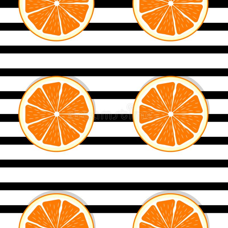 Abstrakte orange nahtlose Muster-Hintergrund-Vektor-Illustration vektor abbildung