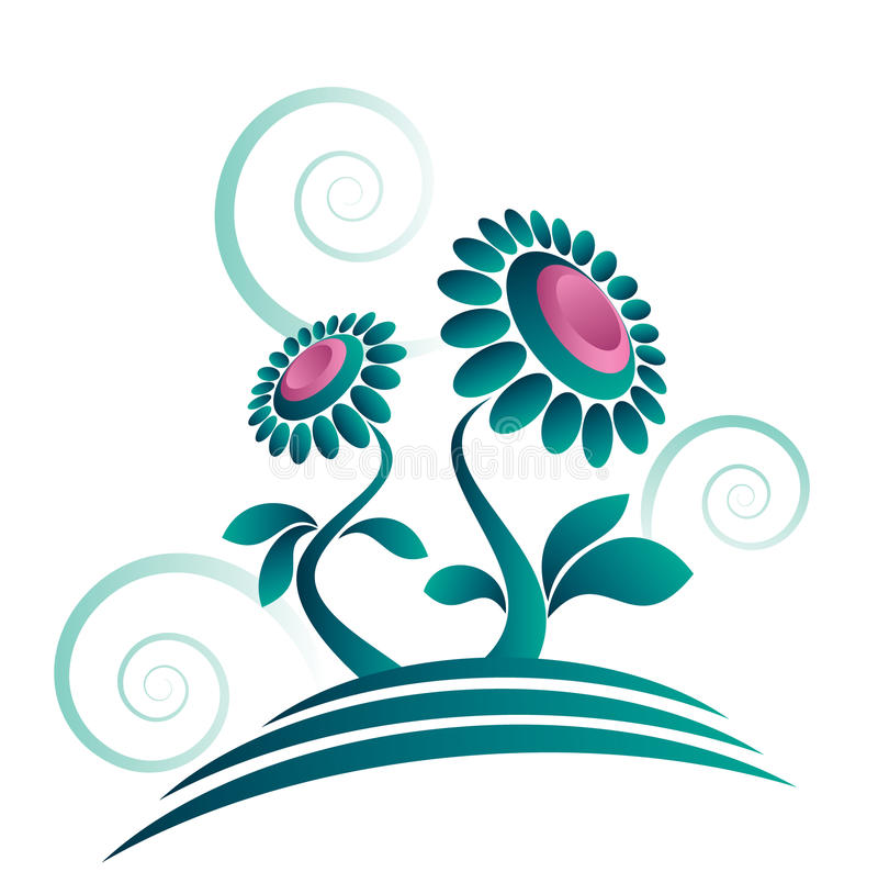 Abstrakte organische Blumenauslegung stock abbildung