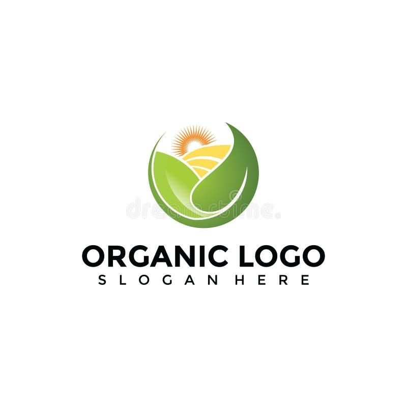 Abstrakte organische Landwirtschaft Logo Template Vektor-Illustrator E lizenzfreie abbildung