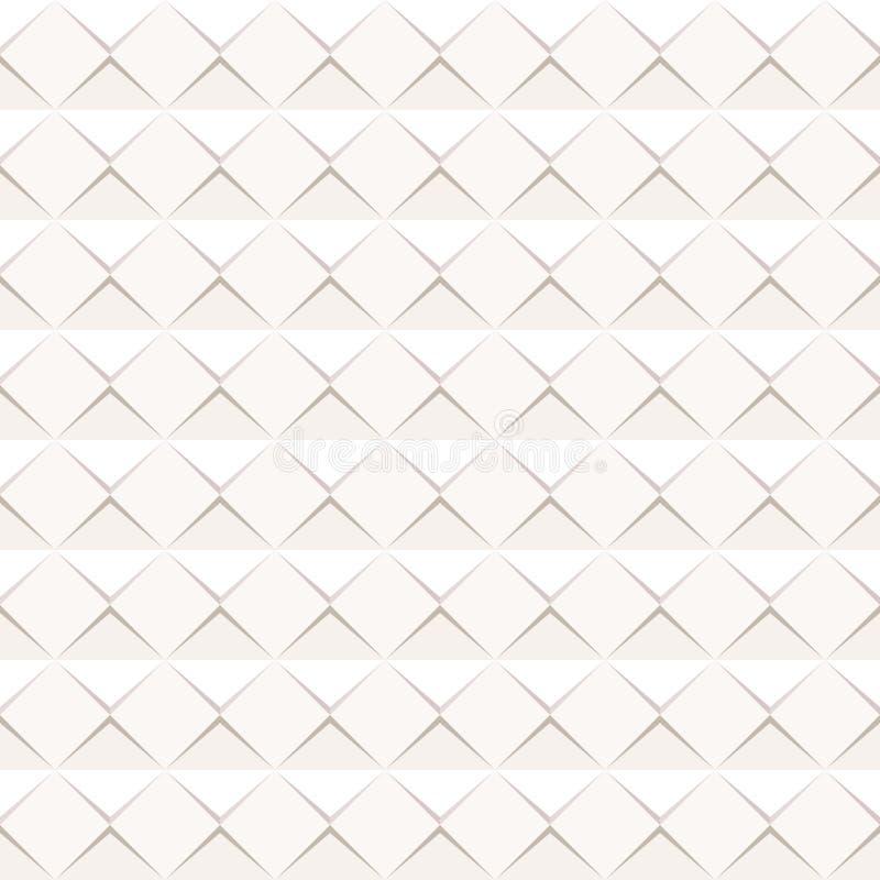 Abstrakte Papierformfahne Papierblatt mit Schlagschatten auf weißem Hintergrund stock abbildung