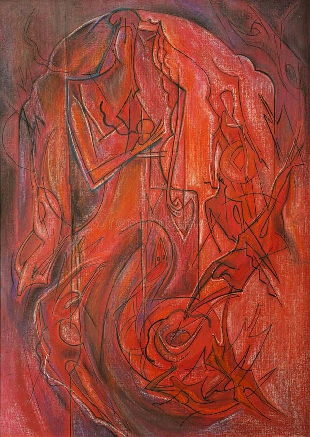 Abstrakte Pastellmalereikunst lizenzfreie stockbilder