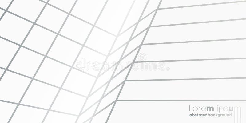 Abstrakte Perspektivenlinien Musterhintergrund, minimaler Vektorentwurf stock abbildung