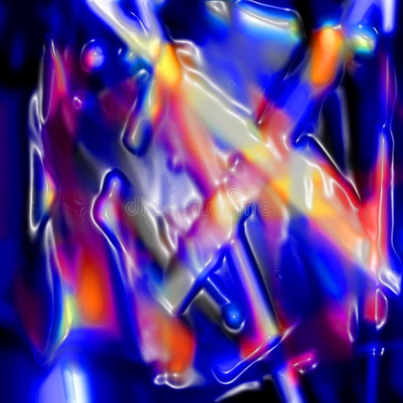 Abstrakte Plastikfalten lizenzfreie abbildung