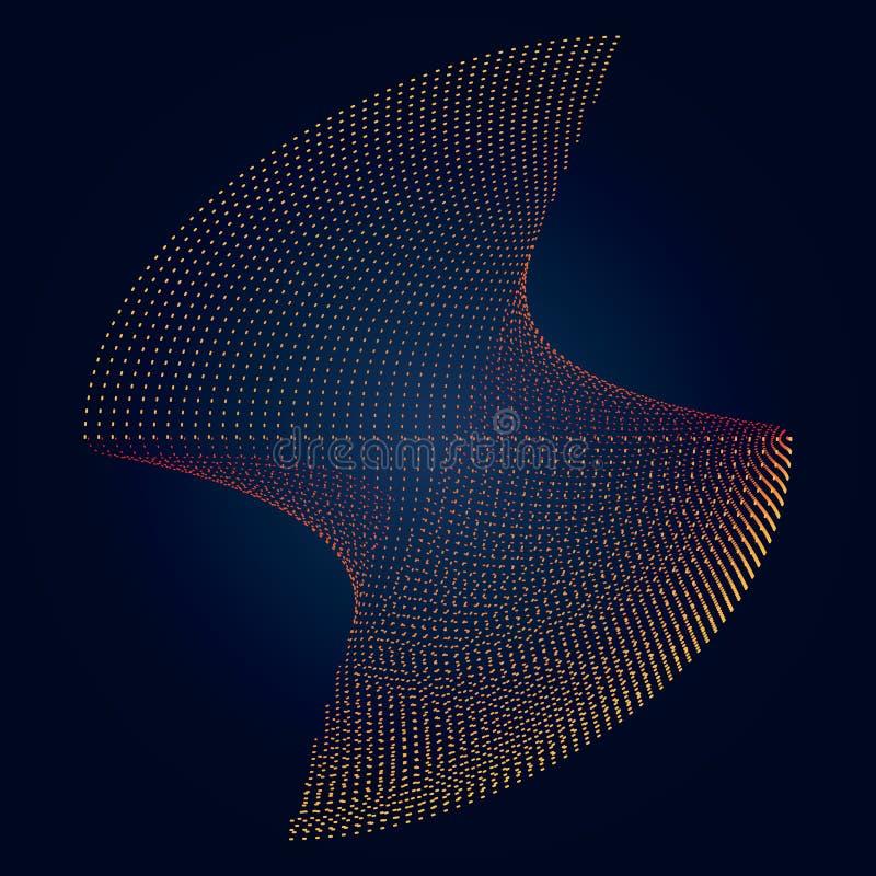 Abstrakte punktierte Kosmos-Zahl Hintergrund stock abbildung