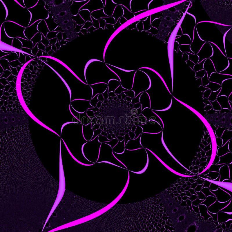Abstrakte purpurrote Farbband-Auslegung stock abbildung