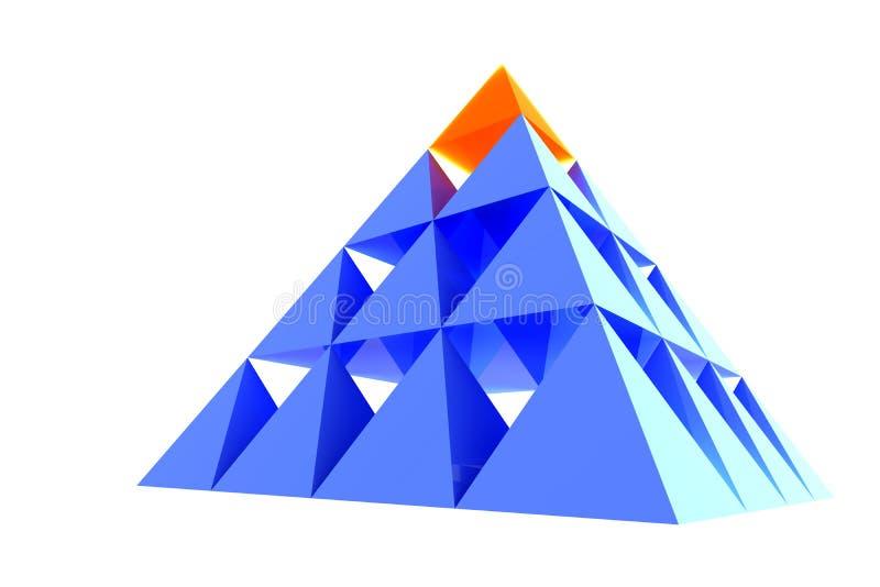 Abstrakte Pyramide mit Orange vektor abbildung