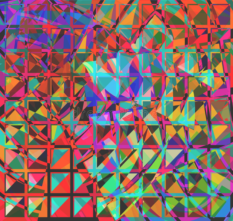 Abstrakte Quadrate lizenzfreie abbildung